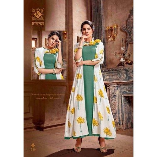 Floral Printed Trendy Kurti