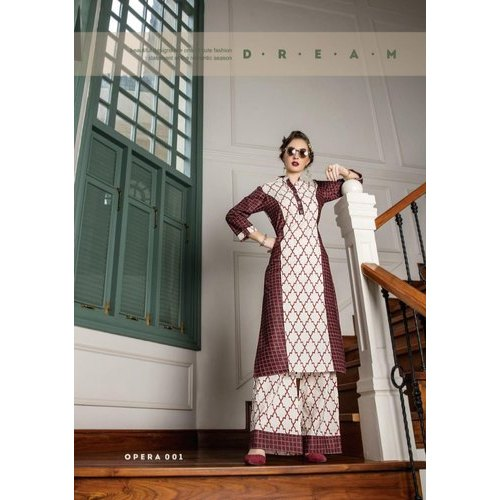 Printed Cotton Palazzo With Kurti