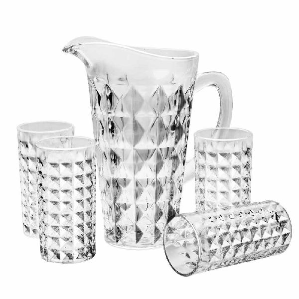 Glass Water Jug Set