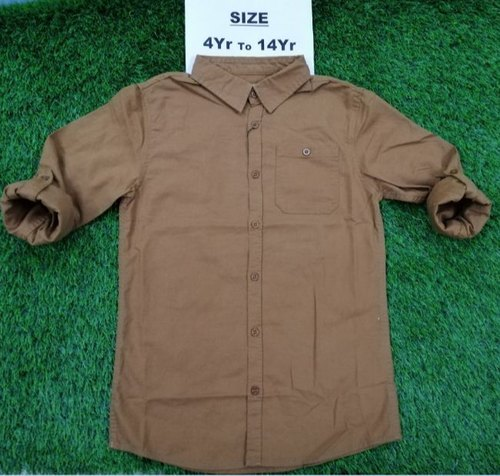 Boys Plain Cotton Shirt