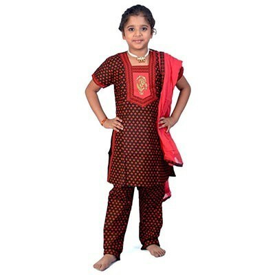 Girls Rajasthani Salwar Suit