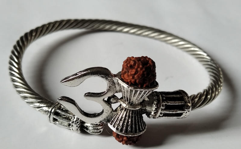 Rudraksha Trishul Damroo Kada Bracelets