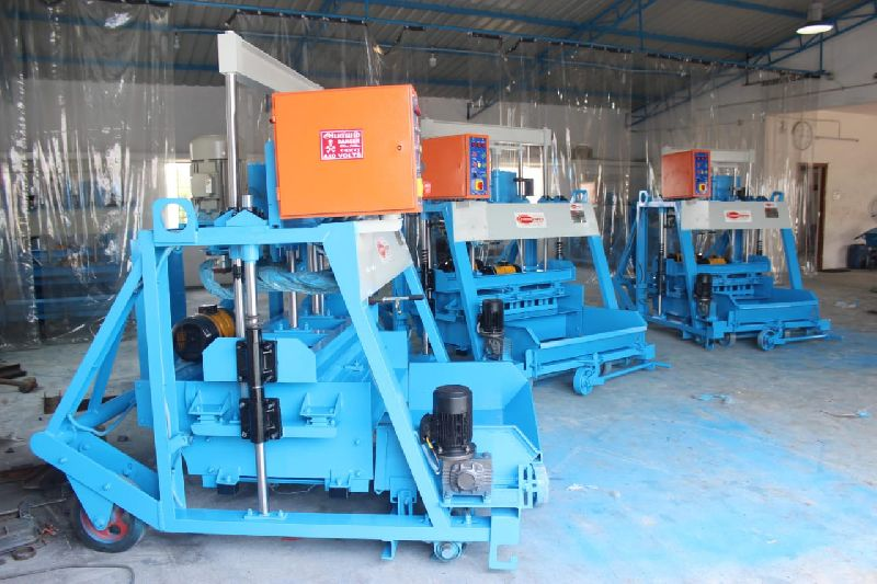 Concrete Block Making Machine with Feeder (1074)
