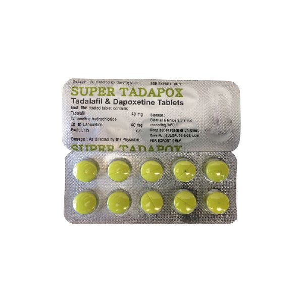 Super Tadapox Tablets (Tadalafil 40mg & Dapoxetine 60mg)