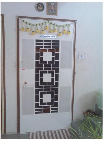 Designer Safety Door HDFC Square Design DSR-004