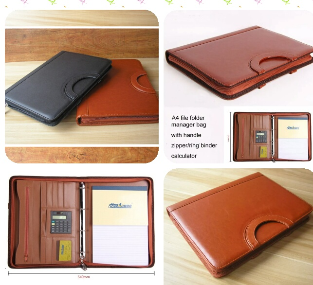 Leather Expanding File Folder