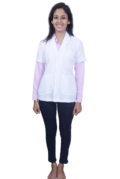 Women Half Sleeve Lab Coat