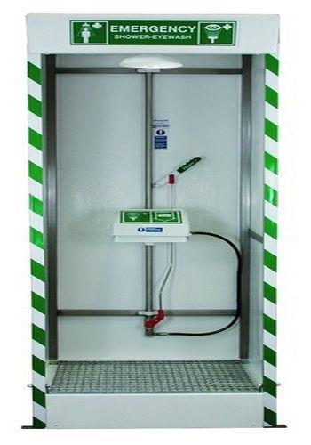 FRP & SS Cabinet Safety Shower Cum Eye Wash