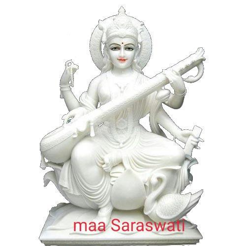 Marble Maa Sarswati Statue