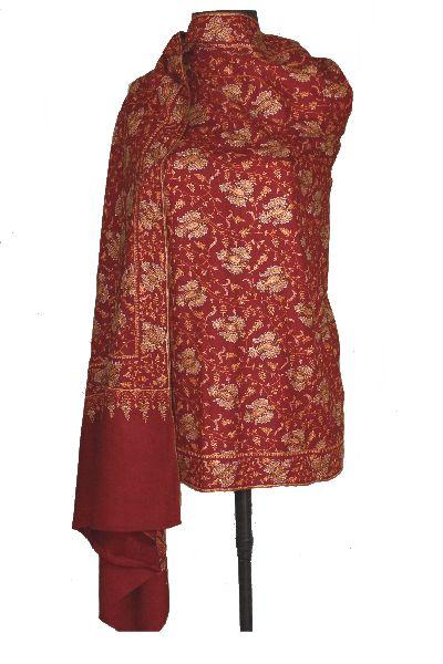 Embroidered Pure Pashmina Shawl