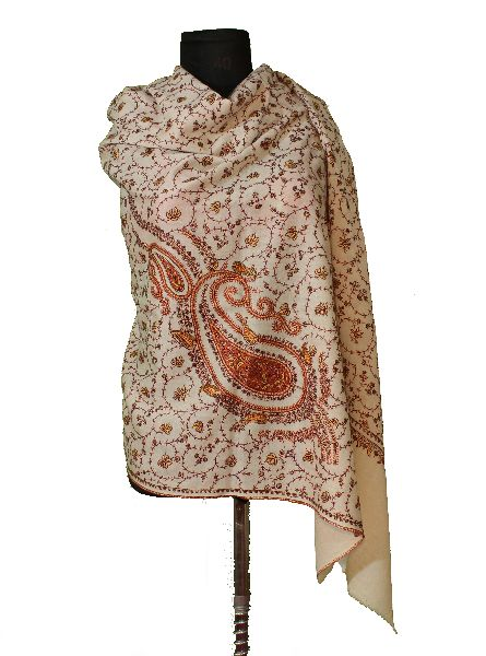 Kashmir Embroidered Woollen Shawl
