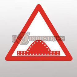Solar Power Speed Breaker Sign Board