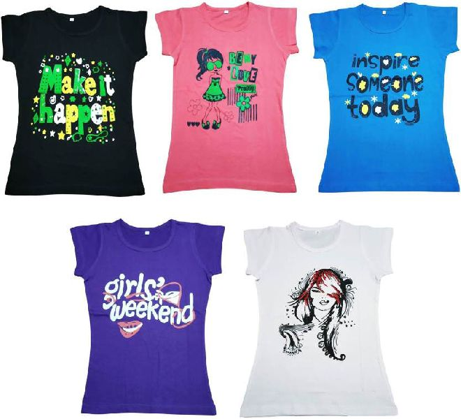 Girls Half Sleeve T-Shirts