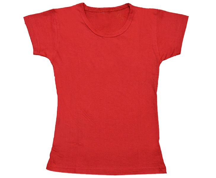 Girls Solid Color T Shirt