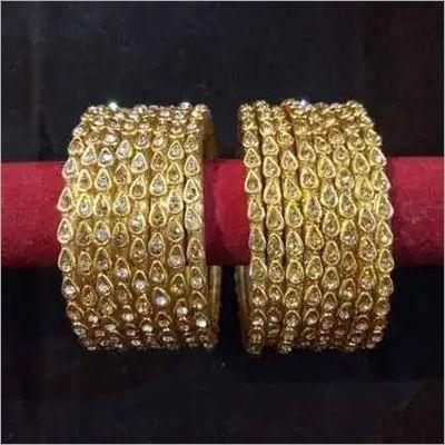 Golden Stone Glass Bangle