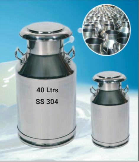 40 Liter Stainless Steel Milk Cans