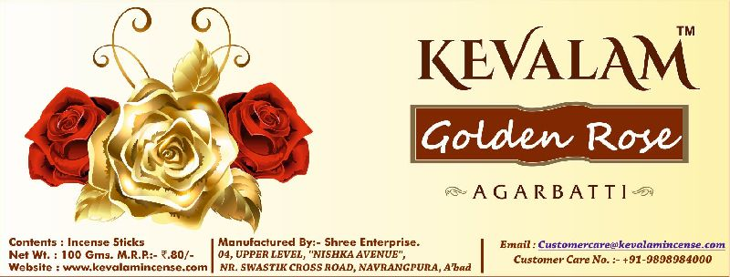 Golden Rose Agarbatti