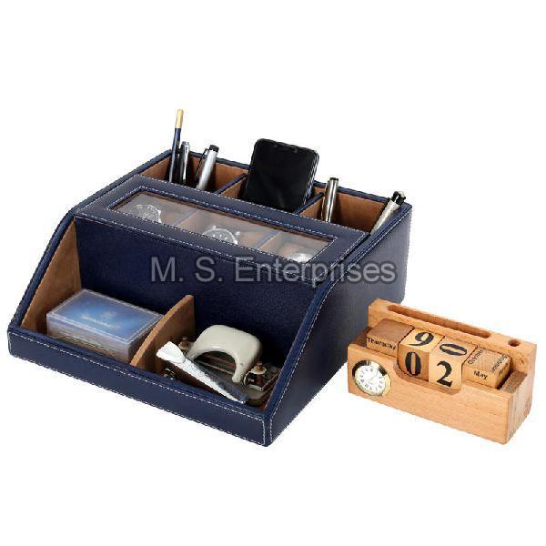 Hard Craft Multi Purpose Desk Organizer with Transparent Window