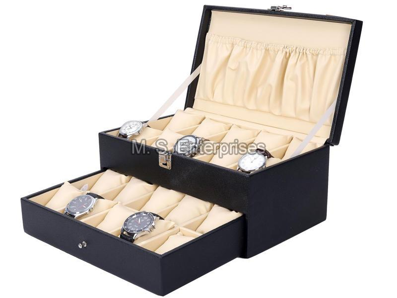 Hard Craft Watch Box Case PU Leather for 20 Watch Slots