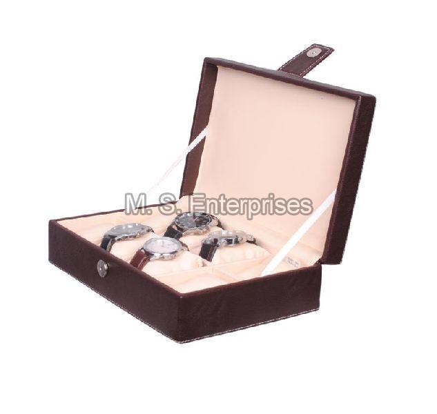 Hard Craft Watch Box Organizer PU Leather for 8 Watch Slots