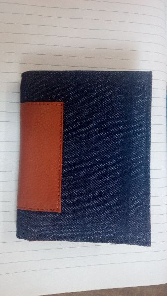 Leather and Denim Wallet