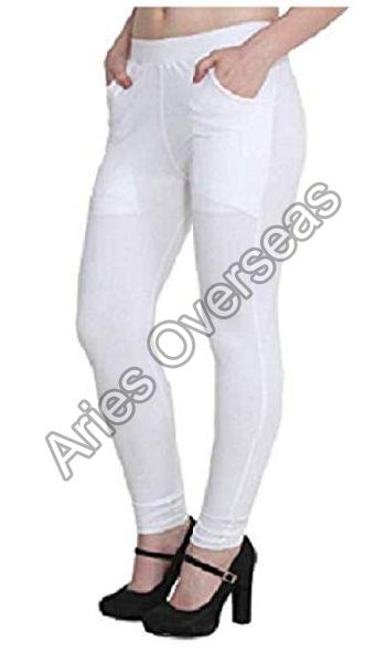 Plain White Jeggings