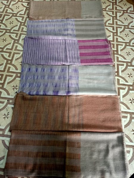 Thick Wool Pashmina Check Stole 01