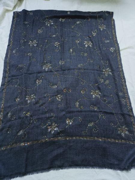 Swarovski Work Fine Wool Stole 03