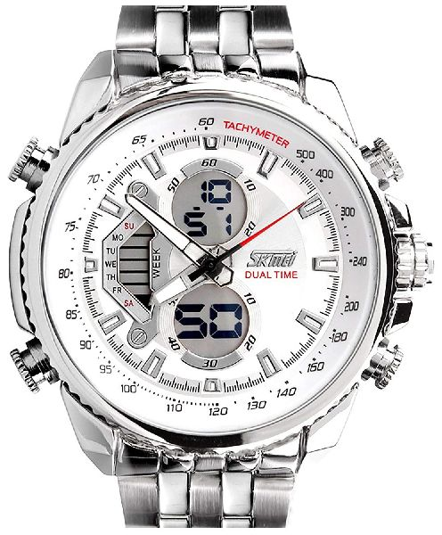Skmei Mens Dual Time Analog-Digital Wrist Watch