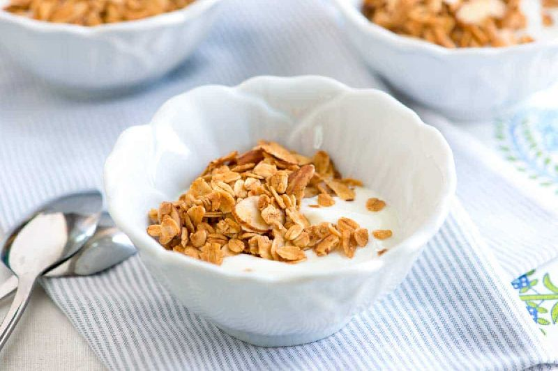 Crunchy Muesli Almonds Raisins and Honey Corn Flakes