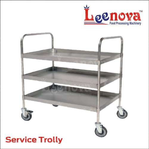 Stainless Steel Service Trolley