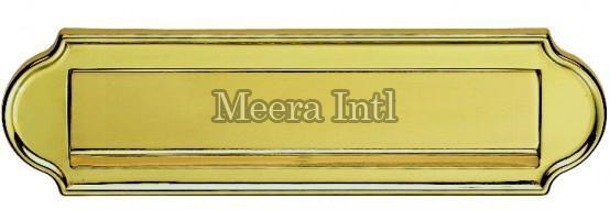 MI-144 Brass Letter Plate