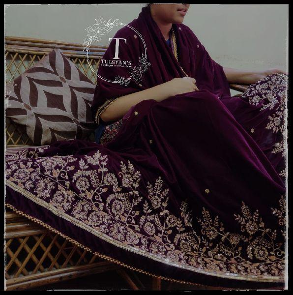 Zardosi Work Saree