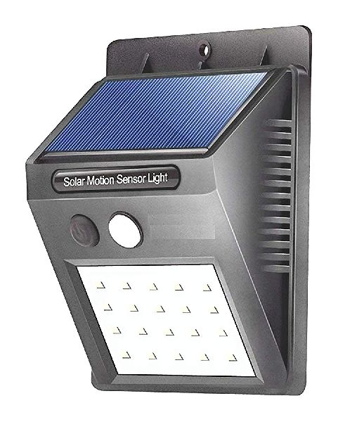 Solar Security LED Night Light for Home Outdoor/Garden Wall (Black) (20-LE