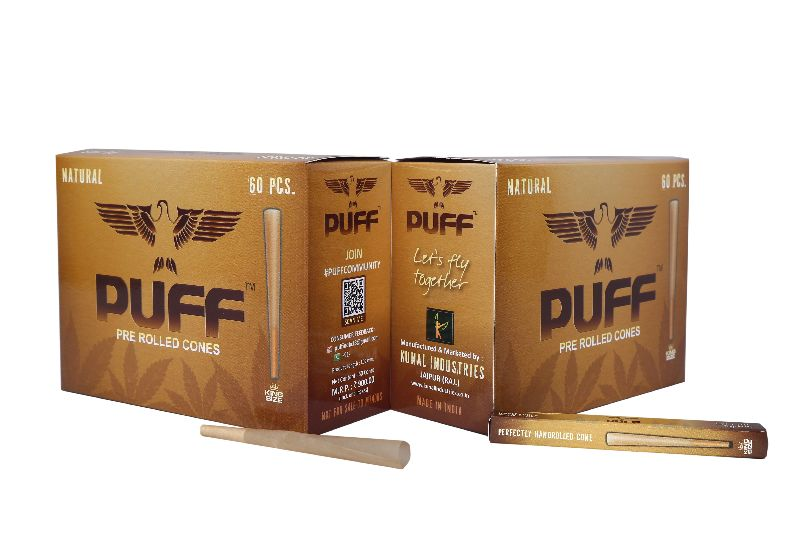 Puff Pre Rolled Cones (Natural) (60 Pcs)