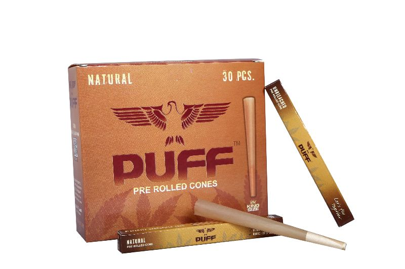 Puff Pre Rolled Cones (Natural) (30 Pcs)