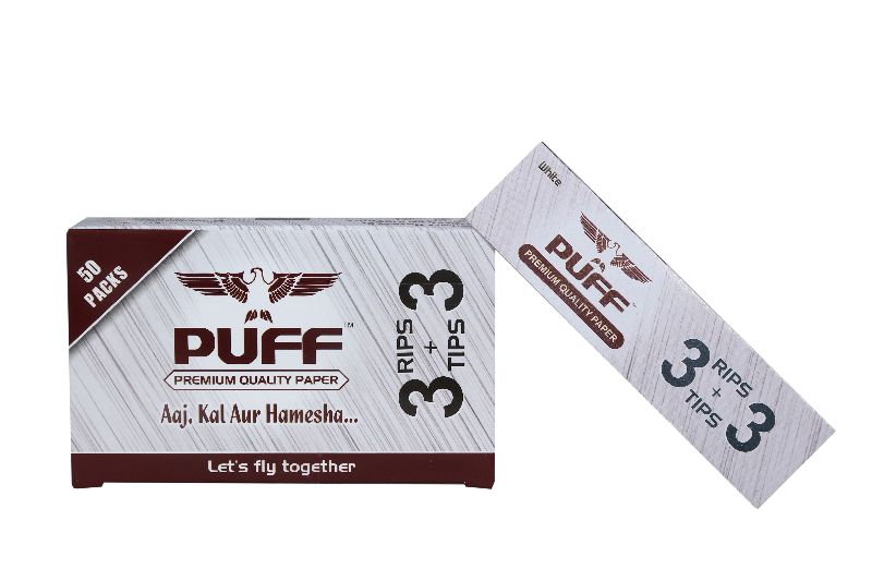 Puff Rolling Papers (Bleached) (3+3)