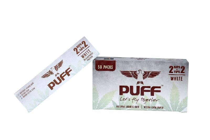 Puff Rolling Papers (Bleached) (2+2)