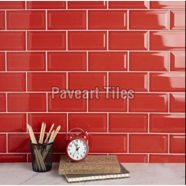 108 x 108mm Blood Red Wall Tiles
