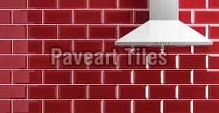 150 x 150mm Blood Red Wall Tiles