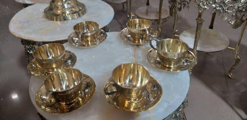 Brass Cup Plate Set