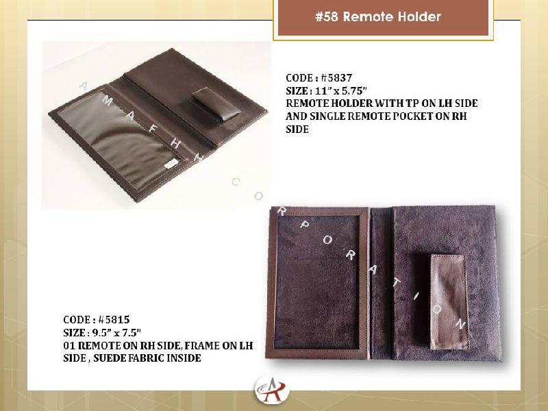 Leatherette Remote Holder