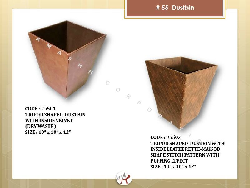 MDF Leatherette Dustbins