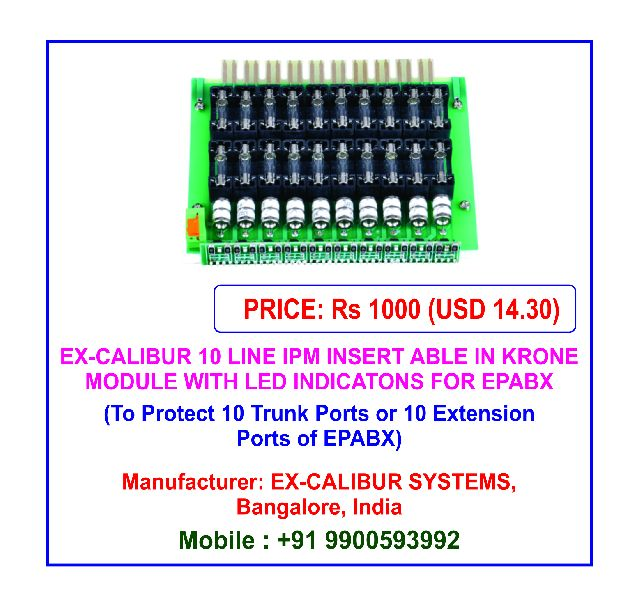 Ex-Calibur 10 Line IPM Integrated Protection Module with LED Indications