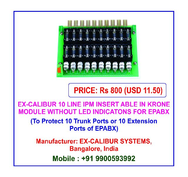 Ex-Calibur 10 Line IPM Integrated Protection Module without LED Indications