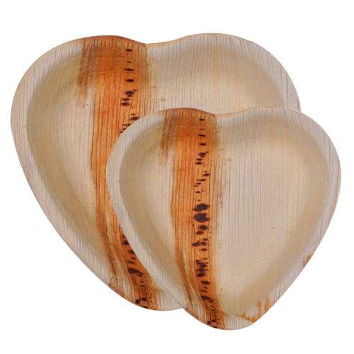 Heart Shaped Areca Leaf Bowl
