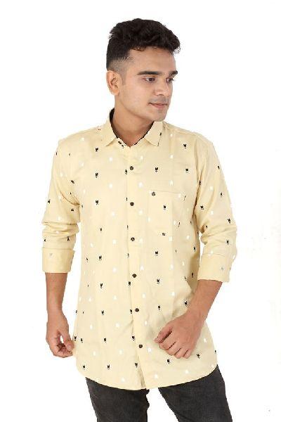 Mens Dot Printed Shirts