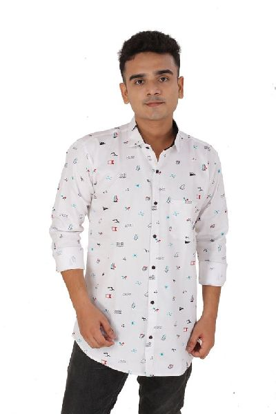 Mens Pure Cotton Printed Shirts