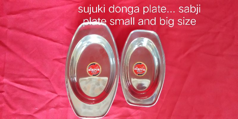 Stainless Steel Serving Plate