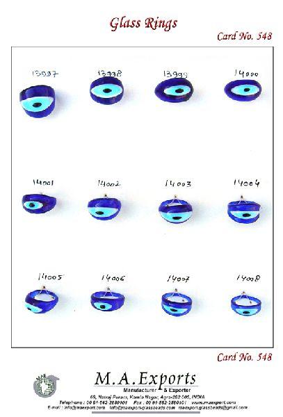 Evil Eye Glass Rings